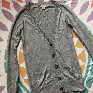 Mossimo Gray V-Neck Cardigan